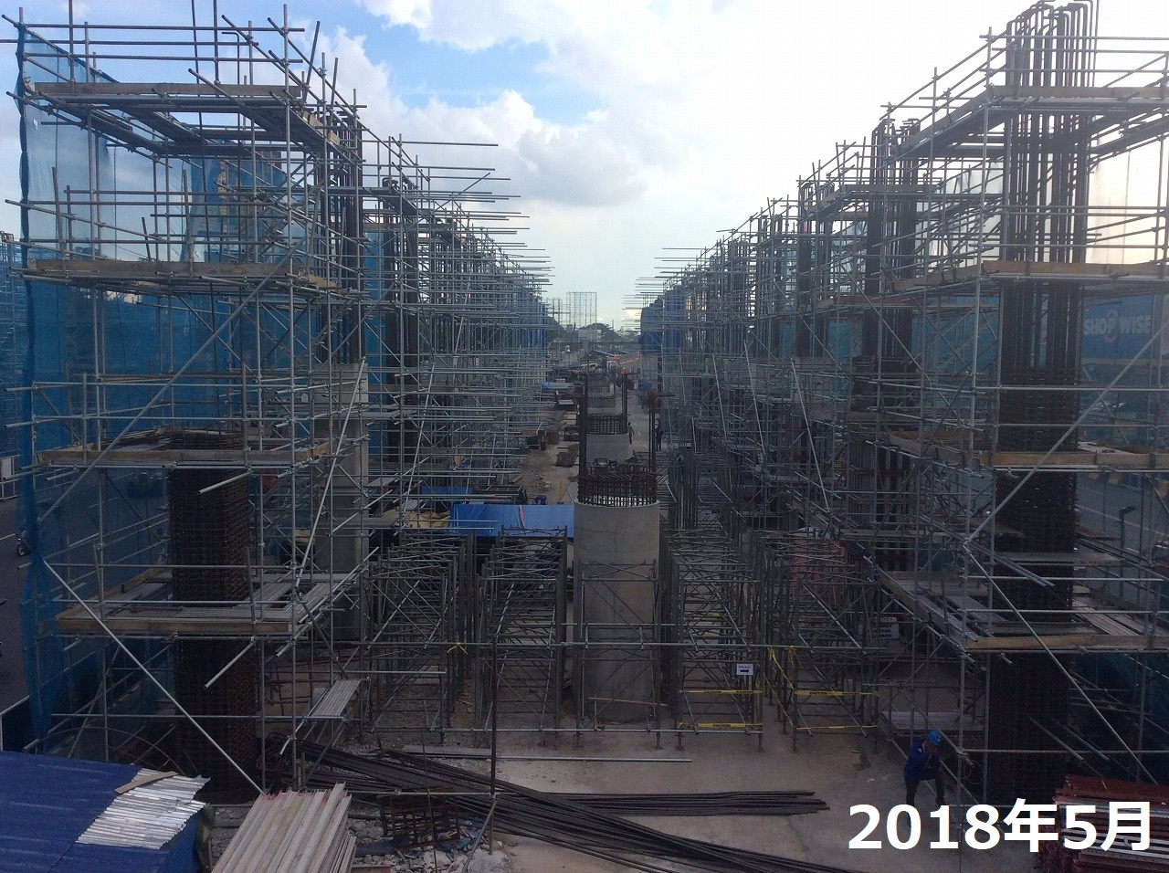 マニラ MRT-7 工事