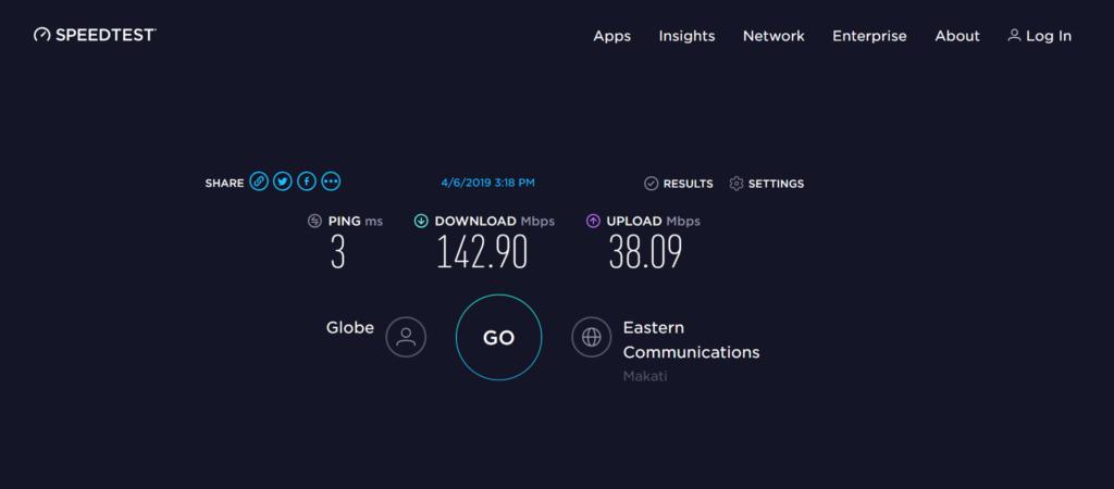 フィリピン インターネット スピード